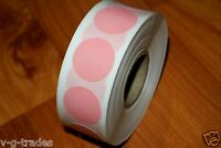 """1000 PINK Self-Adhesive Price Labels 3/4"""" Stickers Tags Retail Store Supplies"""