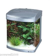MT-405 43L Glass Enclosed Small Ecological Gifts Aquarium/Fish Tank Silver &$