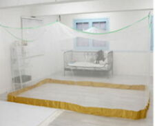 White 9-10 P Extra large Portable Mosquito Net Canopy Insect Folding  Set