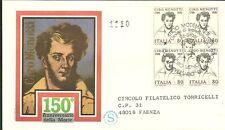 ITALIA BUSTA FDC  Filagrano QUARTINA  PER CIRO MENOTTI 1981 ANNULLO  MODENA FDC