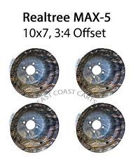 Camouflage 10x7 Realtree MAX-5 Camo RIMS (4) EZGO, Club Car, Yamaha Golf Cart