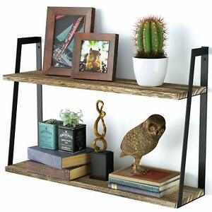 2Layer Stylish Floating Shelves Wall Shelf Rack Over Toilet Sink for Small Space