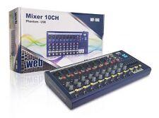 Mixer Audio Passivo 10 canali MP3 USB Effetto Echo Delay + Equalizzatore