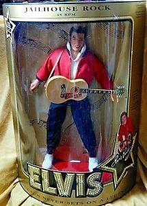 Elvis Doll Jailhouse Rock 45RPM  New unopened Box 1993 Hasbro Certificate #9146