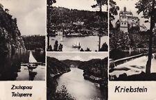 Zschopau Talsperre Kriebstein  ,Ansichtskarte
