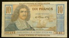 1950-60 Saint Pierre Miquelon 10 Francs P#23 #3952