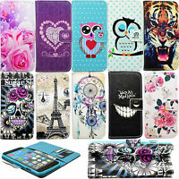 Magnetic Holder Flip Stand PU Leather Card Wallet Cover Case For Various Models