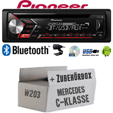Autoradio Radio Pioneer für Mercedes C- W203   Bluetooth USB MP3 CD   Einbauset