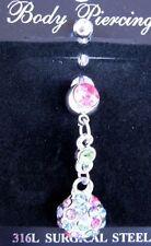 Rhinestone Unbranded Curved Bar Body Piercing Jewellery