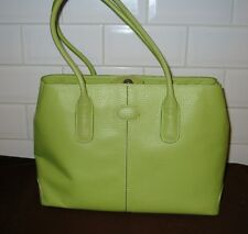 TOD'S VERDE MELA in pelle in rilievo Tote/Shopper Bag
