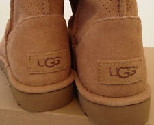 UGG Women's Unlined Classic Mini Boots Perf Suede Tawny Size 9 USA
