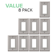 Value 8-Pack Rocker Gfci Outlet Toggle Switch Wall Plate, Brushed Nickel