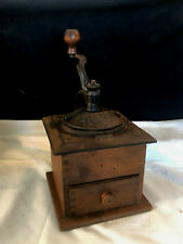 Cast Iron Decorative Wooden Coffee Grinder Coffee Bean Mill Dovetail Assembly