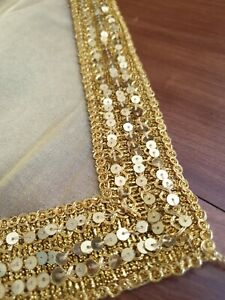 Gold & sequined Indian Table Runner Christmas 🎄