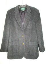 RALPH LAUREN Grey Wool Cashmere Blazer Jacket 12