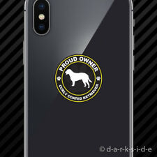 (2x) Proud Owner Curly Coated Retriever Cell Phone Sticker Mobile dog canine pet
