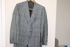 Galtrucco Montenapoleone By BRIONI Gray Plains and Checks Men's SUIT SZ 41 Italy