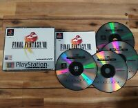 Final Fantasy VIII Sony Playstation 1 PS1 11+ RPG Platinum Big Box Complete