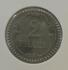 UNGARN: 2 FILLER 1942, KURSMÜNZE, RESTRIKE, (Alb.III), SELTEN ! PP !
