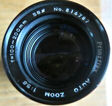 Prinzflex Auto Zoom 100-200mm f5.6 Lens M42 Fitting