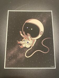 Mike Mitchell :) Space Just Like Us JLU art print Mondo artist