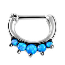 1PC Gothic Lace Opal Nose Septum Hoop Rings Daith Rook Septum Clicker Earrings