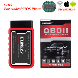 ELM327 V1.5 WIFI with PIC18F25K80 Chip For Android IOS Diagnostic KINGBOLEN L05