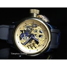 Invicta 17269 Russian Diver Mechanical Gold Skeleton Dial Black&Blue Men's Watch
