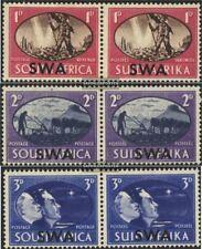 Namibië - Southwest 246-251 horizontaal Koppels (compleet.A met Fold 1945 Victor
