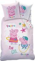 Biber / Flanell Wende Bettwäsche Set Peppa Pig Peppa Wutz 135x200 80x80cm George