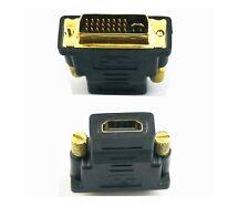 DVI-I MASCHIO (24 +5) a HDMI adattatore femmina convertitore Connettore Placcato Oro