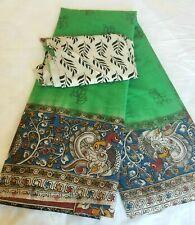 Pure Cotton Hand Painted Kalamkari Saree