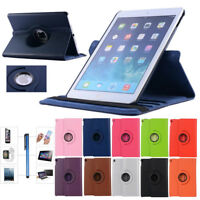 "360 Rotating Case Smart PU Leather Cover for Apple iPad 9.7"" 2018/2017 Pro Air"