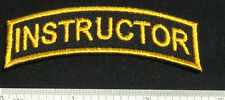 Set of 2 INSTRUCTOR Patches for Skydive Trainer Parachute Shirt Cap Rig Gear 25Q