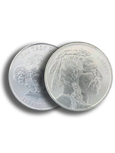 1 oz .999 Silver Buffalo AG Round BU - Buffalo Indian Stamped - IN STOCK!!