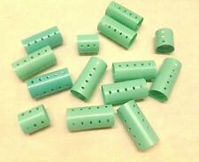 Vtg Snap On Hair Curlers Rollers Aqua Blue Green Lot Retro Vanity