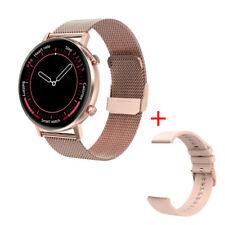 Mujeres Reloj Inteligente Ritmo Cardíaco Monitor de presión arterial para Apple iPhone Samsung LG