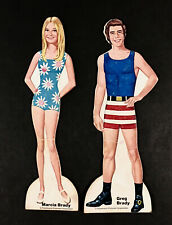 """""""The Brady Bunch-Marcia And Greg"""" 1972 Whitman Cut Paper Dolls Vintage"""