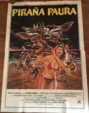 manifesto,4F W PIRANA PAURA,Piranha II: The Spawning JAMES CAMERON HORROR 1981