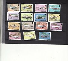 GIBRALTAR - 1982 AIRCRAFT SET 15 UNMOUNTED MINT
