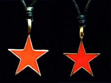 Red Star Estaño Bronce Colgante Collar Che Guevara Gótico Biker