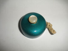 Antique French Russian Sterling Silver Guilloche Enamel Push Bell  art deco