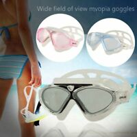 Adult Clear Silicone LARGE Anti-fog Swim Goggles Glasses Swimming Training Mask