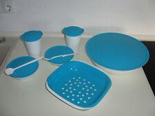 9 tlg. Set Allegra blau Tupperware * Salatschüssel Servierschale hellblau türkis