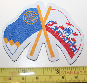 Girl Guides Canada 2 Flags on a Patch Badge