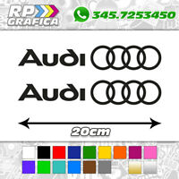 COPPIA ADESIVI AUDI fiancata A1 A3 A4 A5 A6 Q3 Q5 Q7 TT S LINE stickers decal
