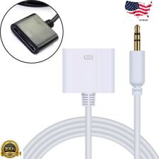 For IPod Shuffle Audio to 30pin Female Dock Connector Cable Adapter3.5mm 1/8male