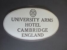 VINTAGE Luggage Label Cambridge UNIVERSITY ARMS HOTEL Unused Gummed