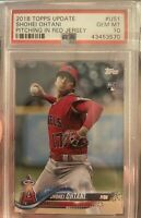 2018 Topps Update #US1 Shohei Ohtani PSA 10 GEM MINT Pitching Rookie RC Angels