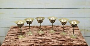 6 x Silver Plated Engraved Game of Thrones Metal Champagne Wine Goblets